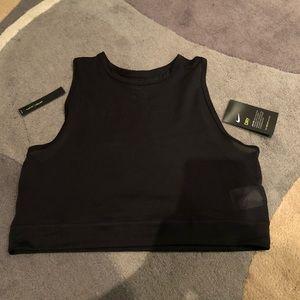 NWT Nike dri-fit black mesh crop tank